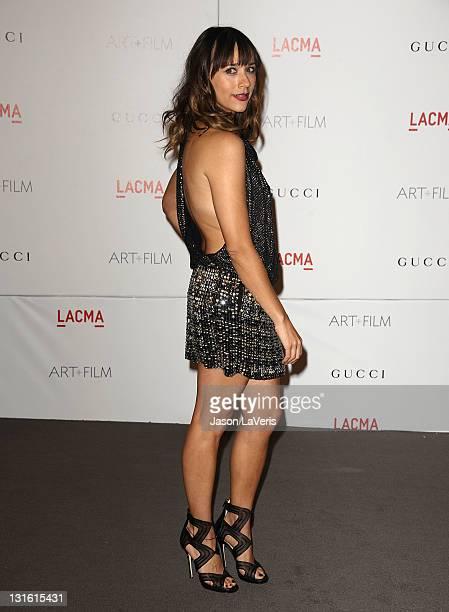 Actress Rashida Jones attends the LACMA inaugural Art Film Gala at LACMA on November 5 2011 in Los Angeles California