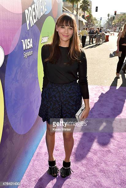 Actress Rashida Jones attends the Los Angeles premiere of DisneyPixar's Inside Out at the El Capitan Theatre on June 8 2015 in Hollywood California