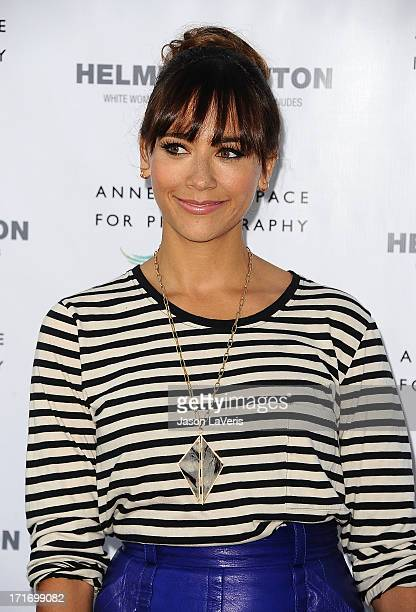 Actress Rashida Jones attends the opening of 'Helmut Newton White Women Sleepless Nights Big Nudes' at Annenberg Space For Photography on June 27...