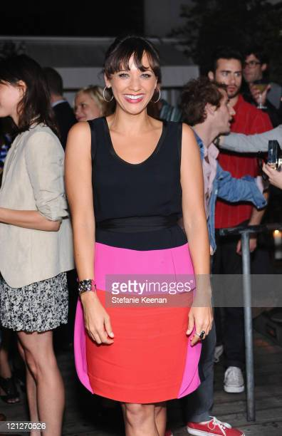Actress Rashida Jones attends the premiere of Our Idiot Brother after party hosted by The Weinstein Company and Ron Burkle held at Skybar at Mondrian...