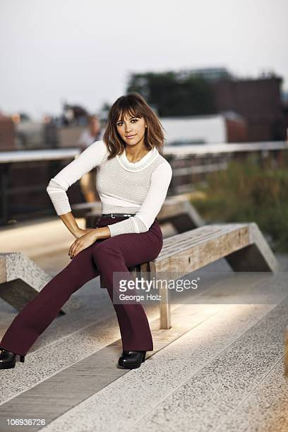 Actress Rashida Jones poses at a portrait session for Lucky Magazine on August 31 2010 in New York City PUBLISHED IMAGE
