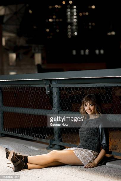 Actress Rashida Jones poses at a portrait session for Lucky Magazine on August 31 2010 in New York City