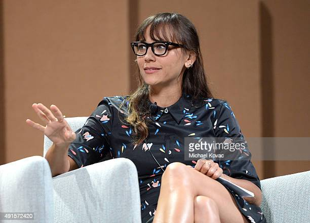 Actress Rashida Jones speaks onstage during 'Silicon Valley Vs Silicon Valley—Inside HBO's Hit Show' at the Vanity Fair New Establishment Summit at...
