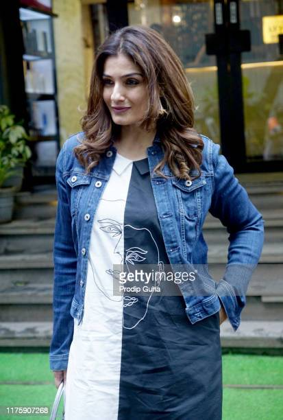Actress Raveena Tandon attends the Salon on September 20 2019 in Juhu Mumbai India