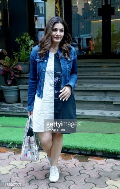 Actress Raveena Tandon attends the Salon on September 20 2019 in Juhu Mumbai India