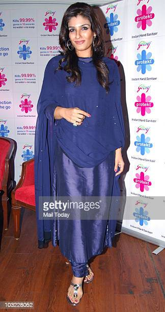 Actress Raveena Tandon during a promotional event in Mumbai on August 3 2010