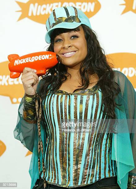 Actress Raven poses backstage at Nickelodeon's 17th Annual Kids' Choice Awards at Pauley Pavilion on the campus of UCLA April 3 2004 in Westwood...
