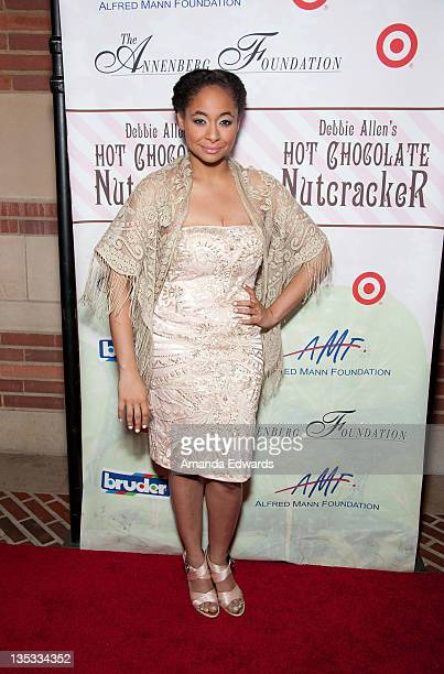 Actress Raven Symone arrives at Debbie Allen's 2nd Annual The Hot Chocolate Nutcracker at Royce Hall UCLA on December 8 2011 in Westwood California