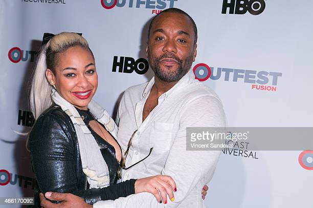 Actress RavenSymone and producer Lee Daniels attend the Outfest 2015 Fusion Gala screening and QA of 'Empire' at American Cinematheque's Egyptian...