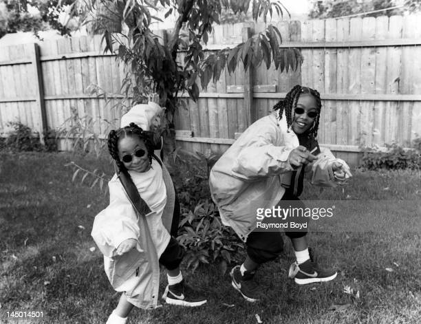 Actress RavenSymone and rapper Da Brat poses for photos on the set of rapper Da Brat's video Fa All Y'All in Chicago Illinois in JANUARY 1993