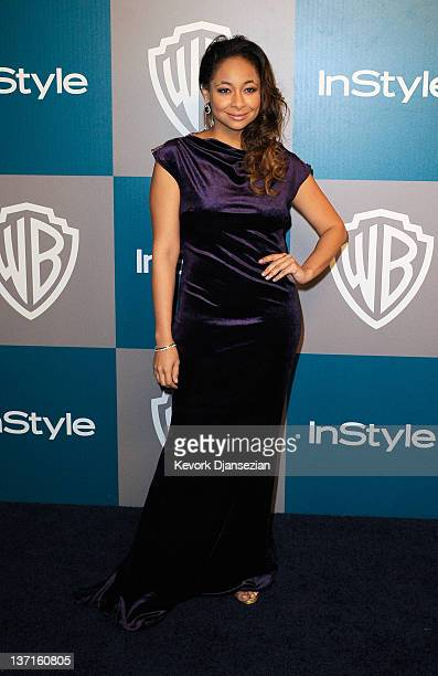 Actress Raven-Symone arrives at 13th Annual Warner Bros. And InStyle Golden Globe Awards After Party at The Beverly Hilton hotel on January 15, 2012...