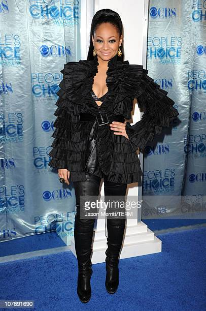 Actress RavenSymone arrives at the 2011 People's Choice Awards at Nokia Theatre LA Live on January 5 2011 in Los Angeles California