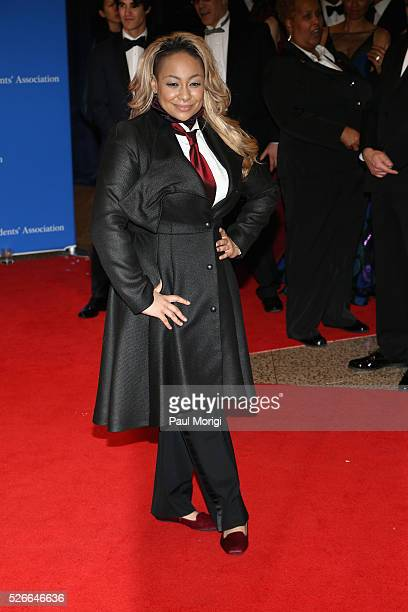 Actress RavenSymone attends the 102nd White House Correspondents' Association Dinner on April 30 2016 in Washington DC