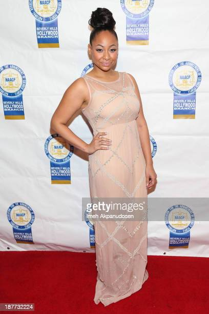 Actress RavenSymone attends the 23rd Annual NAACP Theatre Awards at Saban Theatre on November 11 2013 in Beverly Hills California