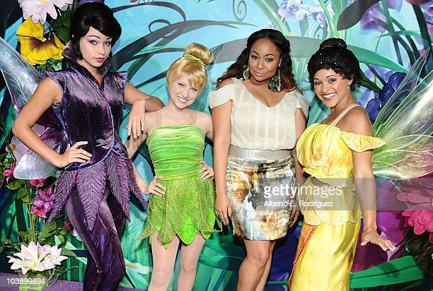 Actress RavenSymone with Tinker Bell and the Fairies attends Picnic In The Park For 'Tinker Bell And The Great Fairy Rescue' at La Cienega Park on...