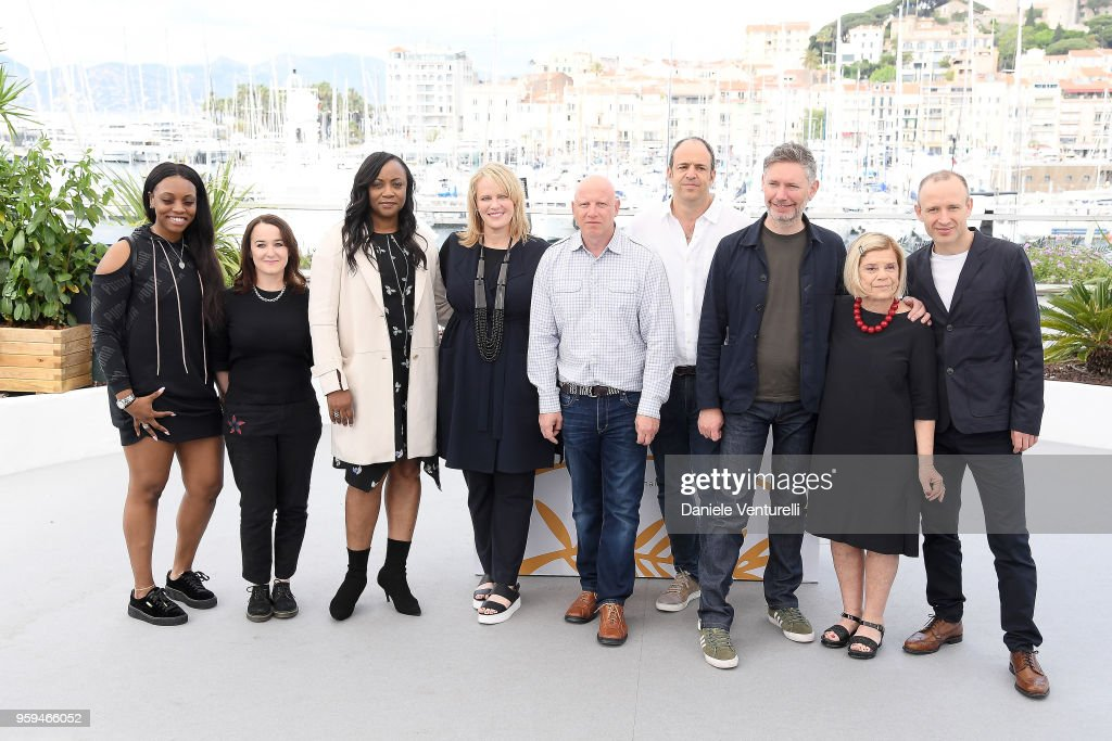 Actress Rayah Houston, producer Vanessa Tovell, executive producer Patricia Houston, producers Lisa Erspamer, Jonathan Chinn, Simon Chinn, director Kevin MacDonald, producer Nicole David and editor Sam Rice-Edwards attend the photocall for the 'Whitney' during the 71st annual Cannes Film Festival at Palais des Festivals on May 17, 2018 in Cannes, France.