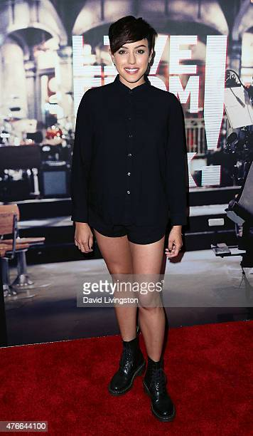 Actress Raychel Diane Weiner attends the premiere of Abramorama's Live from New York at the Landmark Theatre on June 10 2015 in Los Angeles California