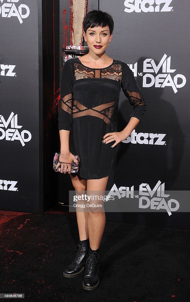Actress Raychel Weiner arrives at the premiere of STARZ's 'Ash Vs Evil Dead' at TCL Chinese Theatre on October 28, 2015 in Hollywood, California.