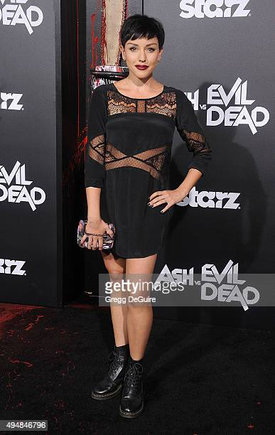 Actress Raychel Weiner arrives at the premiere of STARZ's 'Ash Vs Evil Dead' at TCL Chinese Theatre on October 28 2015 in Hollywood California