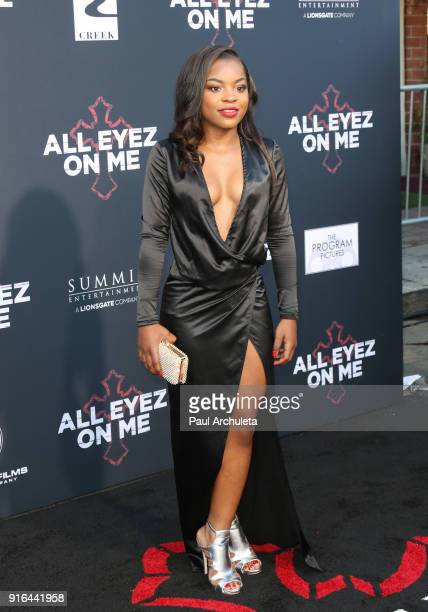 Actress Rayven Symone Ferrell attends the premiere of Lionsgate's 'All Eyez On Me' on June 14 2017 in Los Angeles California