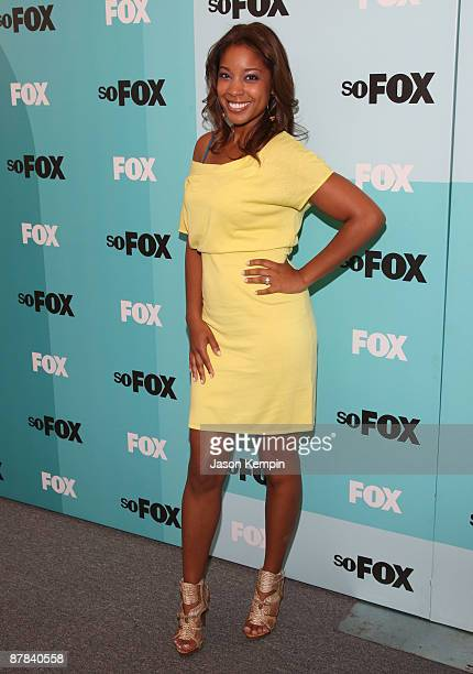Actress Reagan Gomez attends the 2009 FOX UpFront after party at the Wollman Rink in Central Park on May 18 2009 in New York City