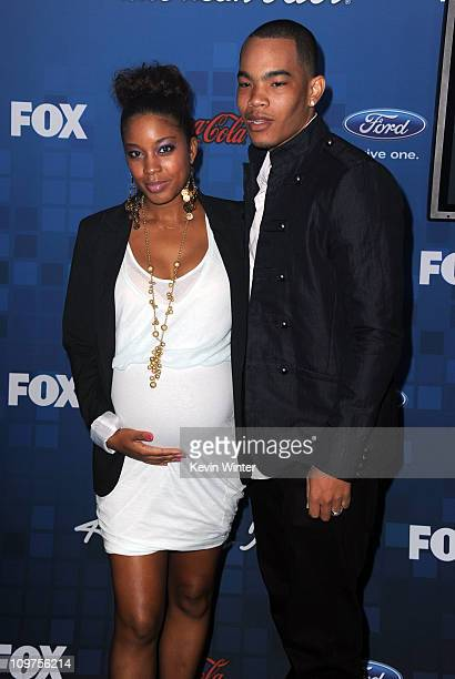 Actress Reagan GomezPreston and DeWayne Turrentine attend Fox's American Idol Finalist Party on March 3 2011 in Los Angeles California