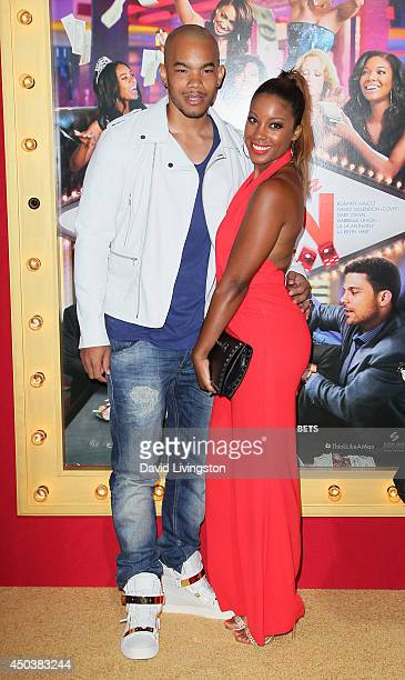 Actress Reagan GomezPreston and husband DeWayne Turrentine Jr attend the premiere of Screen Gems' Think Like a Man Too at the TCL Chinese Theatre on...