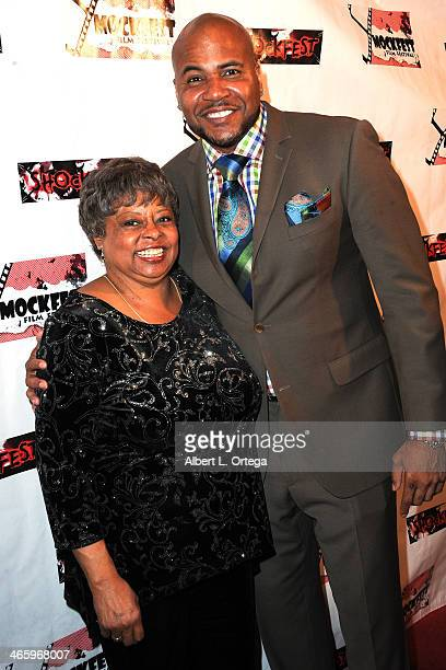 Actress Reatha Grey and actor Vincent M Ward attend the ShockFest Film Festival Awards held at Raleigh Studios on January 11 2014 in Los Angeles...