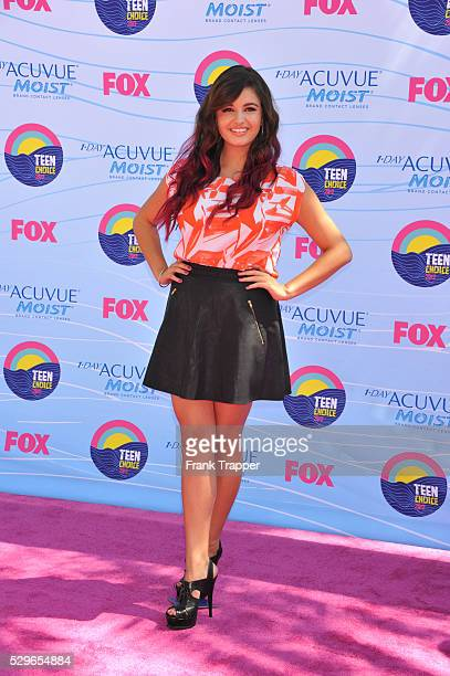 Actress Rebecca Black arrives at the 2012 Teen Choice Awards held at the Gibson Amphitheatre in Universal City California