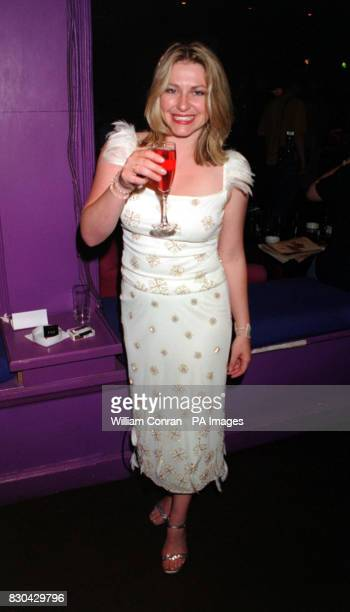 Actress Rebecca Blake who plays 'Nikki Warrington' at Channel 5's Family Affairs celebrity party held at the Ten Rooms in London
