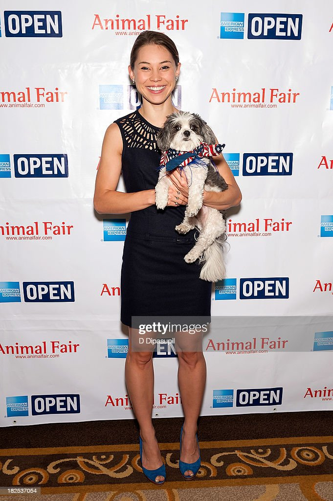 Actress Rebecca Blumhagen attends the 'Animalfair.com's Bark Business Tour Benefiting K9s For Warriors at the Omni Berkshire Place Hotel on September 30, 2013 in New York City.