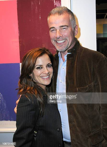 Actress Rebecca Budig and actor Ian Buchanan attend Venice Magazine's Opening Night premiere of LA Art Show held at the Los Angeles Convention Center...