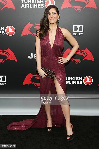 Actress Rebecca Buller attends the Batman v Superman Dawn of Justice premiere at Radio City Music Hall on March 20 2016 in New York City