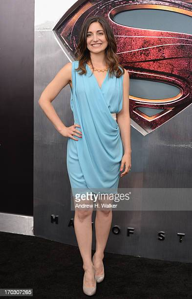Actress Rebecca Buller attends the Man Of Steel world premiere at Alice Tully Hall at Lincoln Center on June 10 2013 in New York City