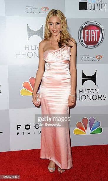Actress Rebecca Da Costa arrives at the NBC Universal's 70th annual Golden Globe Awards after party on January 13 2013 in Beverly Hills California