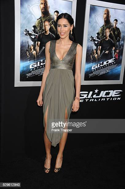 Actress Rebecca Da Costa arrives at the premiere of GI Joe Retaliation held at the Chinese Theater in Hollywood