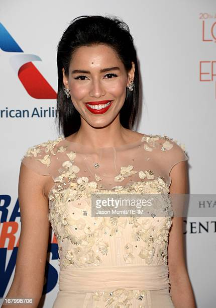 Actress Rebecca Da Costa attends the 20th Annual Race To Erase MS Gala Love To Erase MS at the Hyatt Regency Century Plaza on May 3 2013 in Century...