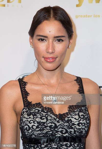 Actress Rebecca Da Costa attends YWCA greater Los Angeles hosts The Rhapsody Ball fundraiser at Beverly Hills Hotel on November 8 2013 in Beverly...