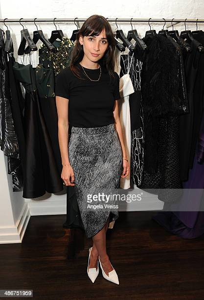 Actress Rebecca Dayan attends Christian Siriano Fall 2014 LA preview cocktail party at Decades on April 25 2014 in Los Angeles California
