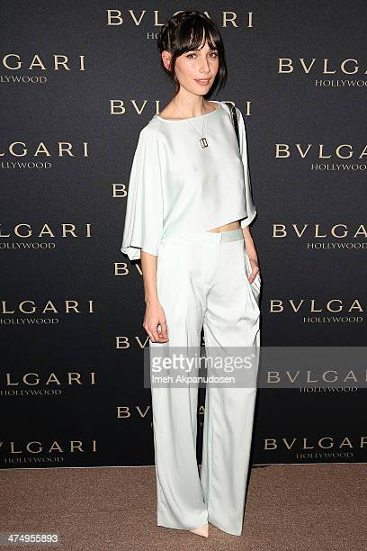 Actress Rebecca Dayan attends the BVLGARI 'Decades of Glamour' Oscar Party at Soho House on February 25 2014 in West Hollywood California