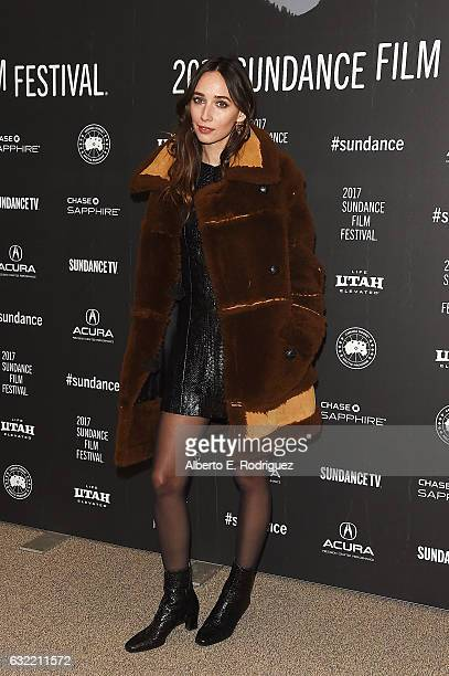 Actress Rebecca Dayan attends the Novitate premiere during day 2 of the 2017 Sundance Film Festival at Eccles Center Theatre on January 20 2017 in...