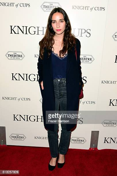 Actress Rebecca Dayan attends the premiere of Broad Green Pictures' Knight Of Cups on March 1 2016 in Los Angeles California
