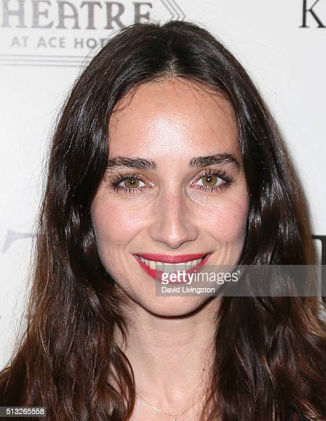 Actress Rebecca Dayan attends the premiere of Broad Green Pictures' Knight of Cups at The Theatre at Ace Hotel on March 1 2016 in Los Angeles...