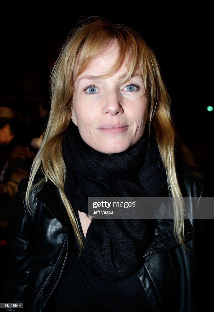 Actress Rebecca De Mornay arrives at Banksy's 'Exit Through The Gift Shop' premiere at Los Angeles Theatre on April 12, 2010 in Los Angeles, California.