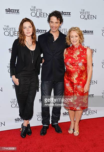 Actress Rebecca Ferguson actor James Frain and author Philippa Gregory arrive at Cocktails with the Queen the British Consulate's toast to the US...