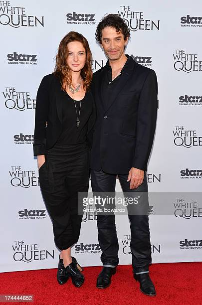 Actress Rebecca Ferguson and actor James Frain arrive at Cocktails with the Queen the British Consulate's toast to the US launch of the Starz...