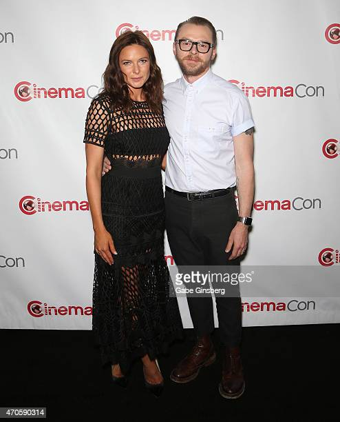 Actress Rebecca Ferguson and actor Simon Pegg arrive at The State of the Industry Past Present and Future and Paramount Pictures Presentation at The...
