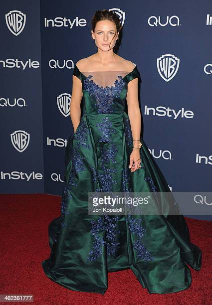 Actress Rebecca Ferguson arrives at the 2014 InStyle And Warner Bros 71st Annual Golden Globe Awards PostParty on January 12 2014 in Beverly Hills...