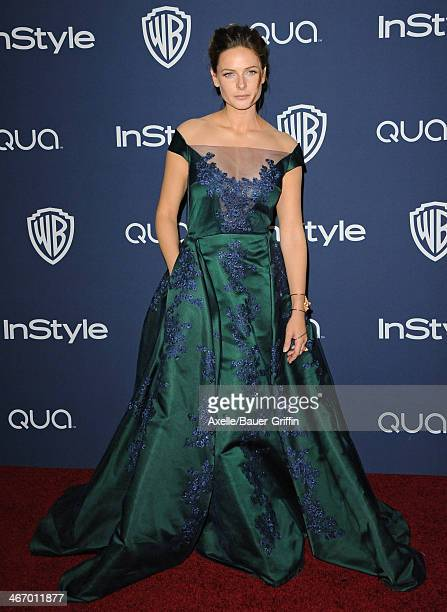 Actress Rebecca Ferguson arrives at the 2014 InStyle And Warner Bros 71st Annual Golden Globe Awards PostParty at The Beverly Hilton Hotel on January...