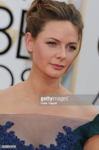 Actress Rebecca Ferguson arrives at the 71st Annual Golden Globe Awards held at The Beverly Hilton Hotel